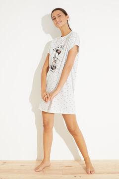 Womensecret Short cotton Minnie nightgown grey