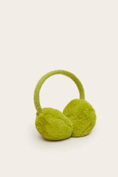 Womensecret Fur ear muffs  green
