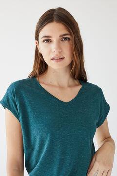 Womensecret T-shirt doubles manches lin vert