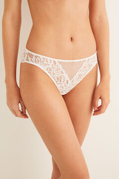 Womensecret Classic guipure panty white