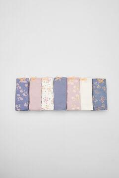 Womensecret 7-pack printed cotton floral panties pink