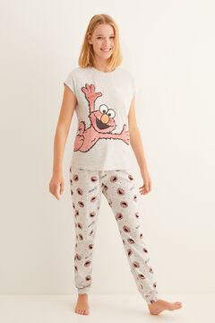 Womensecret - Kurzärmeliger Pyjama Elmo Grau grau