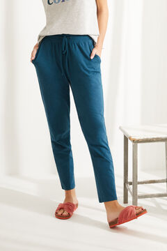 Womensecret Blue cotton jogger bottoms blue