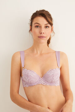 Womensecret Classic lace and satin bra pink