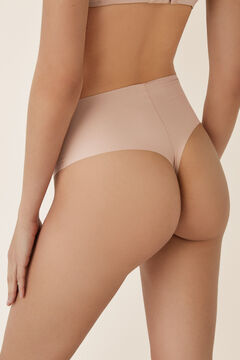 Womensecret Thermoregulatory tanga panty with shaping effect nude