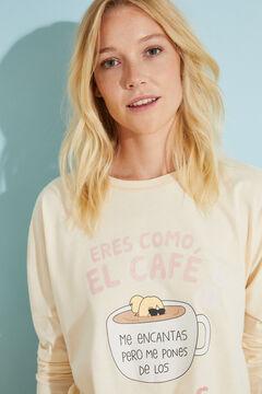 Womensecret Long cream cotton pyjamas Moderna de Pueblo printed