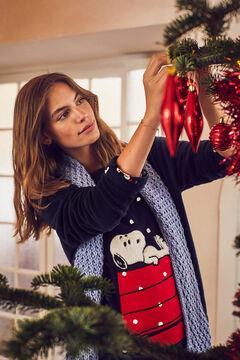 Womensecret Navy fleece Snoopy pyjamas blue