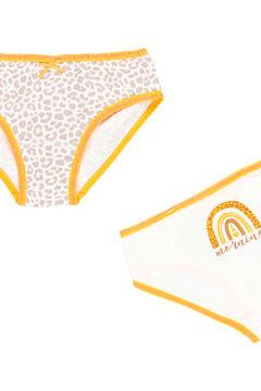 Womensecret Pack 3 cuequinhas para menina - orgânico marrom