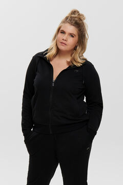 Womensecret Sweatshirt com fecho-éclair gola  preto
