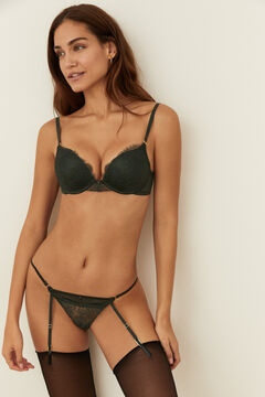 Womensecret Green lace strappy low waist panty green