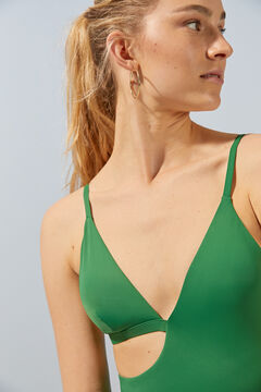 Womensecret Asymmetric swimsuit green