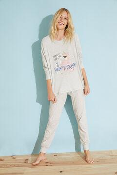 Womensecret Long grey cotton pyjamas Moderna de Pueblo grey