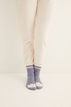Womensecret Non-slip cosy ankle socks cloud blue