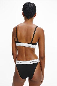 Womensecret Calvin Klein Modern Cotton top with waistband black