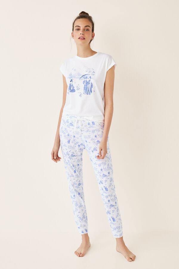 1046362ae0 Womensecret Pijama largo estampado japonés beige