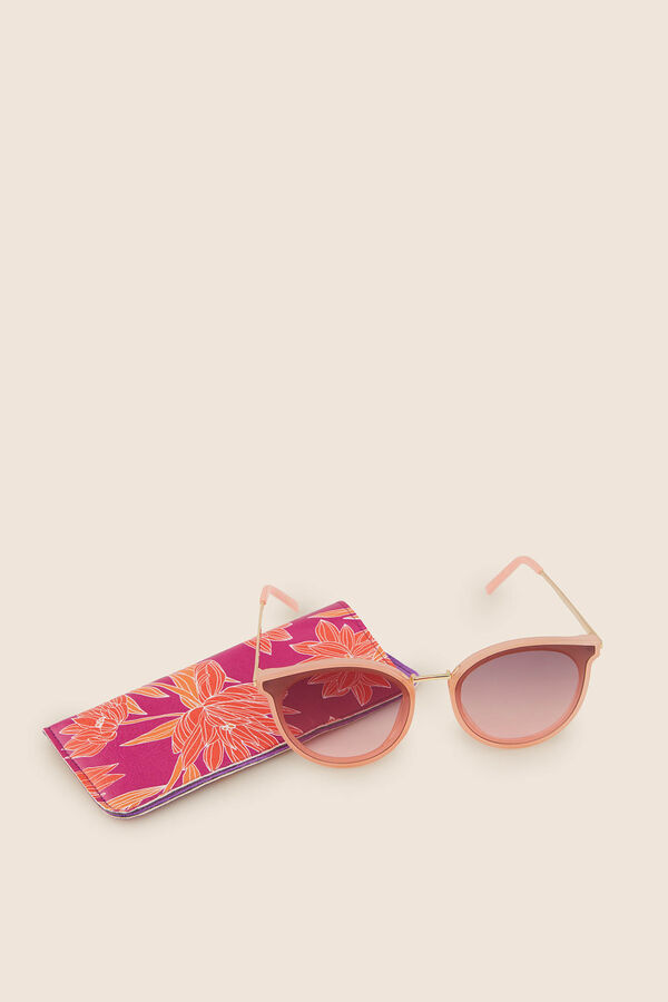 35a9187e07 Womensecret Gafas sol montura pasta y funda flores rosa