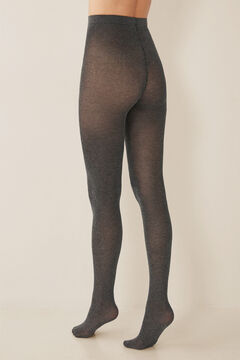 Womensecret Marl tights with lurex grey