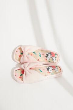 Womensecret Snoopy pink bow flip-flops pink