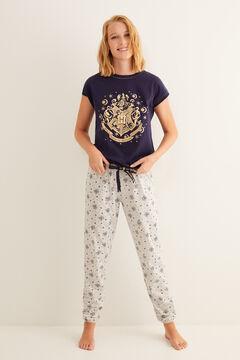 Womensecret Pyjama à manches courtes emblème Poudlard bleu bleu