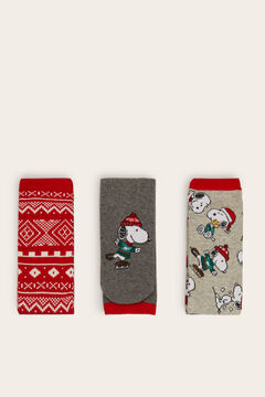 Womensecret 3-pack of long Snoopy socks printed