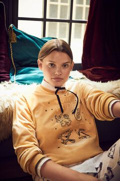 Womensecret Pijama comprido veludo House Pride amarelo