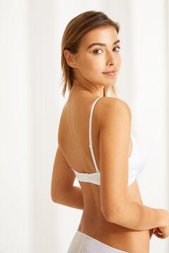 Womensecret Wireless triangular bra white