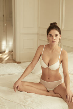 Womensecret BEAUTIFUL Classic white flocked tulle padded bra white
