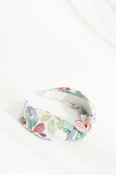 Womensecret Virágmintás, csomózott hajráf fehér