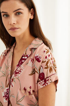 Womensecret Classic capri pink floral pyjamas pink