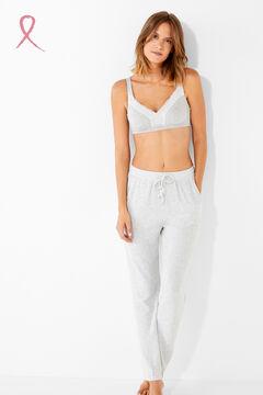 Womensecret Cotton and lace Post-Surgery bra szürke