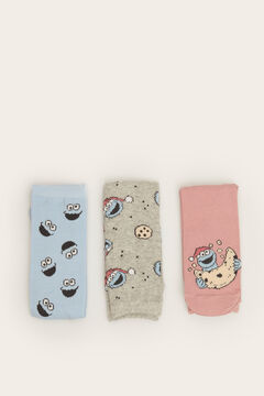 Womensecret 3-pack of long Cookie Monster socks printed