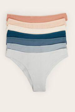 Womensecret 7-pack of cotton Brazilian panties white