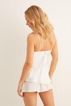 Womensecret Pijama curto cetim raso branco
