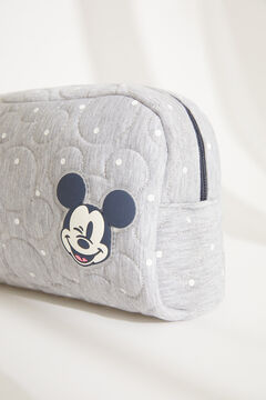 Womensecret Medium padded Mickey Mouse vanity case with grey polka-dots grey