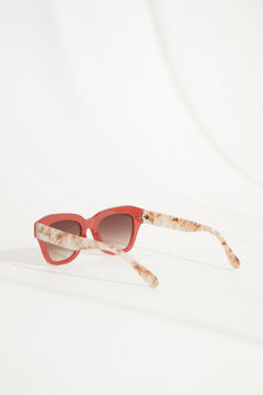 Womensecret Red plastic sunglasses and palm tree case white