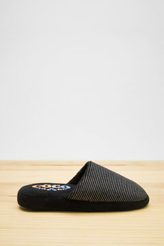 Womensecret Zapatillas destalonadas Coco negro gris