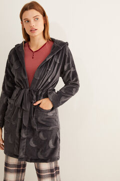 Womensecret Grey moon fleece robe grey