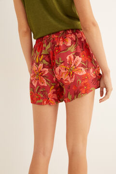 Womensecret Printed pyjama shorts brown