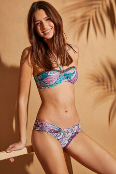 Womensecret Paisley draped V-front bikini bottoms white