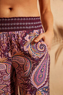 Womensecret Paisley floaty trousers  white