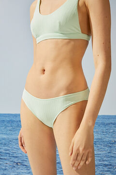 Womensecret Classic mint green ribbed bikini bottoms green