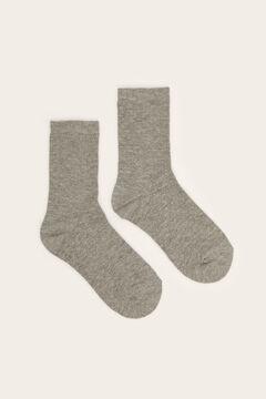 Womensecret Calcetines medios estampados gris