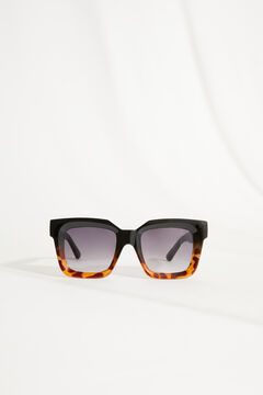 Womensecret Square sunglasses with multicoloured case printed