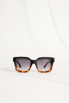 Womensecret Gafas de sol cuadrada y funda multicolor estampado