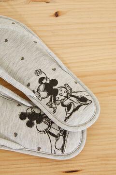 Womensecret Grey Mickey and Minnie flip-flops grey