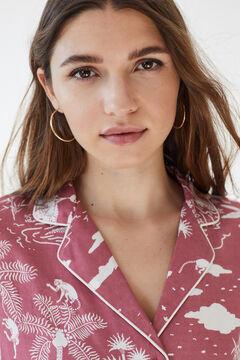 Womensecret Classic tropical short-sleeved pyjamas pink