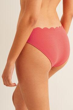 Womensecret Hullámos díszítésű bikinialsó piros