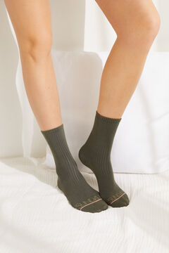 Womensecret Pack of 3 multicoloured long socks printed