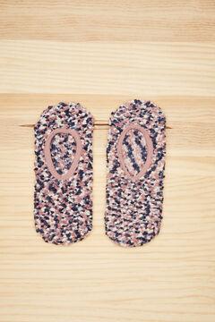 Womensecret Fluffy bobbly no-show socks printed