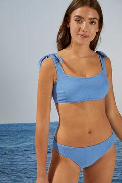 Womensecret Waffle effect bikini bottoms blue